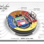 Mapa de Setores Roger Waters - Morumbi - 31 de março