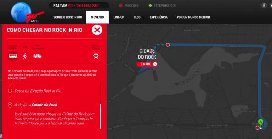 Mapa de Ida ao Rock in Rio