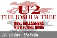 U2 e Noel Gallagher em Outubro em São Paulo