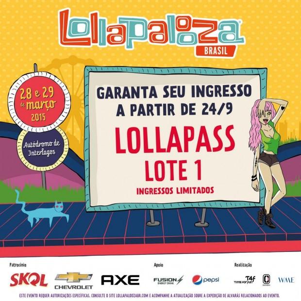 Vendas Lollapalooza Brasil 2015