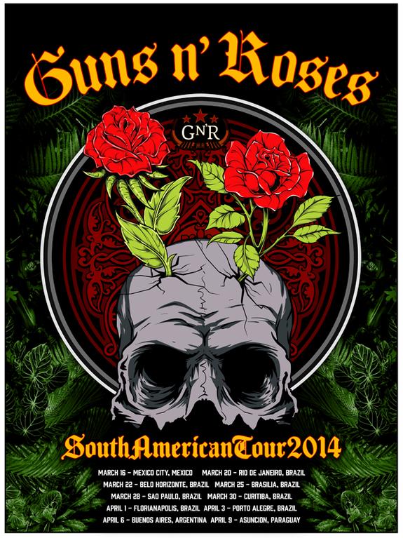 Guns n' Roses South America Tour 2014